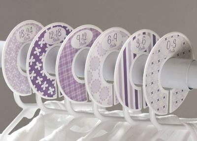 """6 baby closet dividers girls floral clothing organizers Fit 1.25"""" rod C134"""