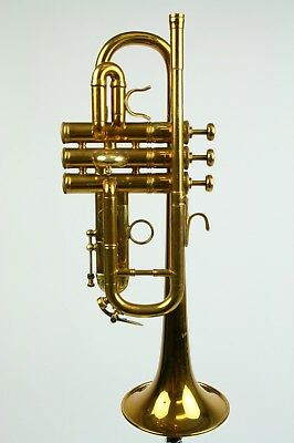 Trumpet Benge Eb/D Renso tempered bell/ Gold plated/very rare
