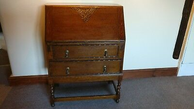 Antique Bureaux Traditional Antique Wood Bureau With Drawers