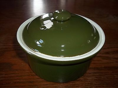 Hall Dark Green Casserole Small Individual with Lid