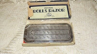 Antique Vintage Imperial Rolls Razor In Box Made In England