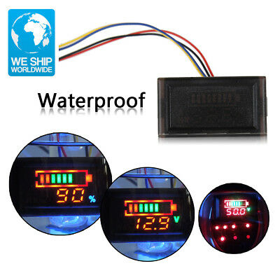 Multi-function Waterproof Red LED AC Digital Voltmeter Electric Motorcycle 12V L