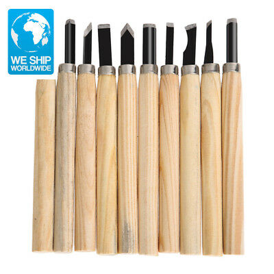 10pcs Clay Wax Wood Craft Hand Carving Chisels Knife for Basic Woodworking Carvi