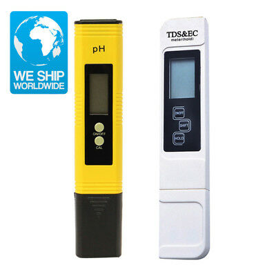 2PCS LCD Digital PH Meter TDS Tester Pen Water Purity PPM Filter Hydroponic Pool