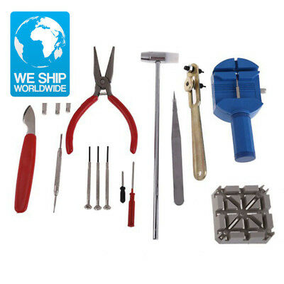 16PCS Watch Clock Opener Tool Kit Watch Repair Tool Cell Pin Remover Fixed Tools