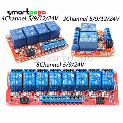 2/4/8Channel Modul With Optocoupler Isolation H/L Level Trigger Relay 5/9/12/24V
