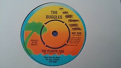 "The Buggles - The Plastic Age 7"" Vinyl Single"