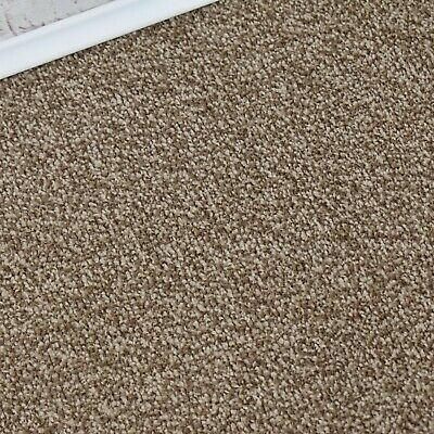 HARDWEARING 9mm Thick Brown Felt Back Twist Pile 5m Wide Carpet £6.99m²