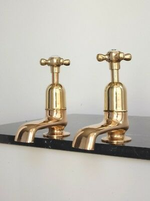 RARE Antique Brass Bath Taps EXTRA LARGE Size Fully Refurbished Vintage Bathroom