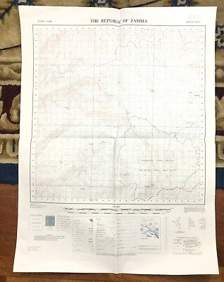 Vintage Map Africa  Republic of Zambia Government Kachalola Forest Reserve 1970