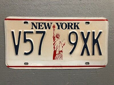 New York License Plate Red/white/blue Statue Of Liberty V57-9Xk