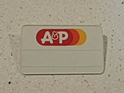 Vintage A & P Grocery Store Supermarket Employee Name Tag Badge Pin UNUSED!