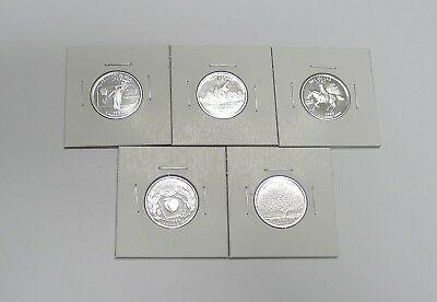 Complete Set 1999-S SILVER Proof State Quarters! 5 Coins!  Must See Photo!