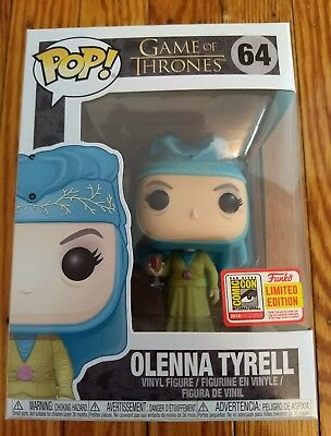 "Funko Pop Olenna Tyrell Game Of Thrones 2018 Sdcc Comic Con ""Official Sticker"""