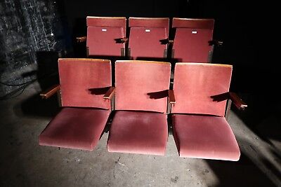Red velvet tip up theatre / cinema seats