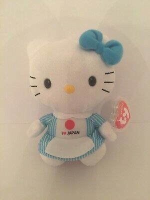 TY BEANIE BABIES - Hello Kitty - I Love Japan (UK Version) - £5.00 ... a3a5362df26b