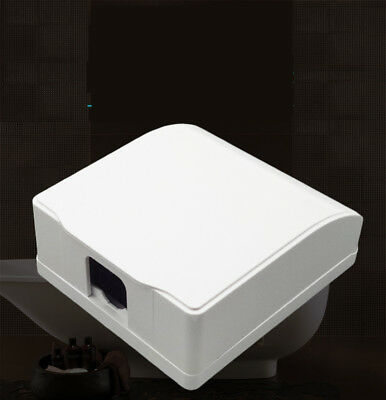 1Pcs White External Switch Socket Waterproof Cover Box Fit Socket Panel Mounting