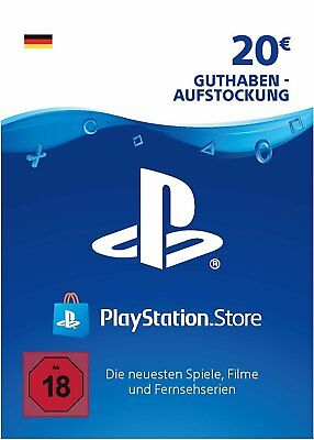 PSN Network Card 20 Euro PS3 PS4 PS Vita PlayStation Gift Prepaid Code 20€
