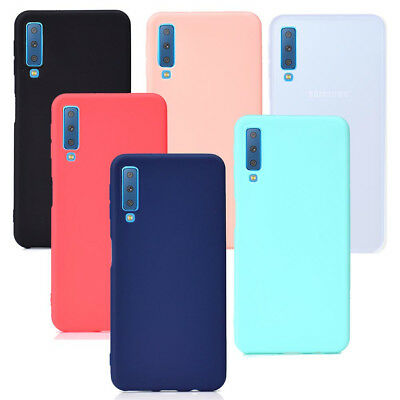 For Samsung Galaxy A7 2018 A750 Ultra Thin Matte Silicone Case cover