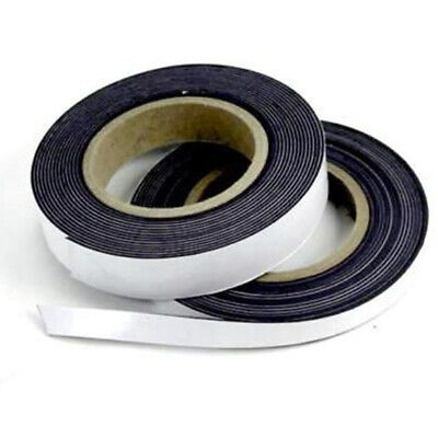 Self Adhesive Magnetic Tape Flexible Craft Sticky Magnet Strip Width 12,5-25mm