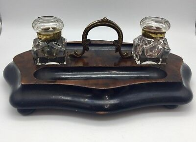 Antique Inkstand Desk Companion circa 1850