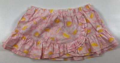 KENZO Girls Baby Patterned Skirt, Pink/Yellow, 100% cotton, 6 months /68 cm