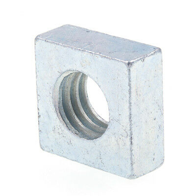Square Nuts, 3/8 in-16, Zinc Plated., 25 pack