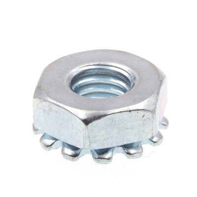K-Lock Nuts With External Tooth Washer, #10-32, Zinc Plated., 50 pack