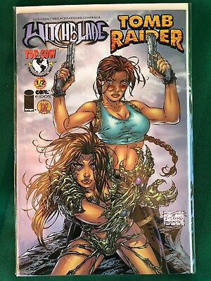 Top Cow 2000 Witchblade/tomb Raider #1/2 Dynamic Forces Exclusive Cover Coa