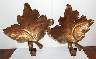 Pair Very Fine Sweden Handmade 19/20th c. Arts & Crafts Copper Wall Sconces