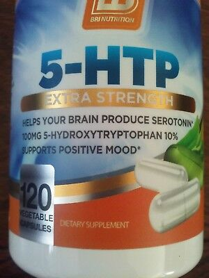 BRI Nutrition 5 HTP 100mg 120 Vegetarian Caps | Depression, Anxiety  BOTTLE