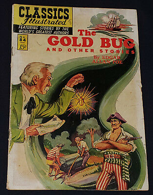 JUNE 1951 THE GOLD BUG & OTHER STORIES CLASSICS ILLUSTRATED COMIC No.84 ORIGINAL