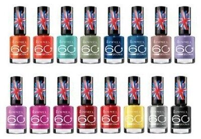 BRAND NEW - RIMMEL 60 Seconds Nail Varnish 8ml - various shades