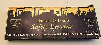 Rare Antique / Vtg Bausch & Lomb Safety Eyeglasses Unused In Box
