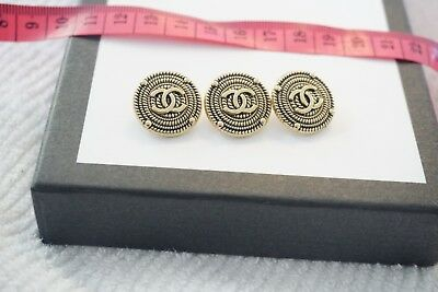 Chanel buttons set of 3 size 20mm Logo CC