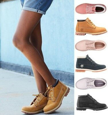 NEW Timberland Women s Nellie Double Waterproof Leather Chukka Ankle Boots 6d4d286830