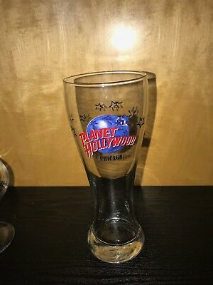 Planet Hollywood New York Tall Pilsner Beer Glass Souvenir Tourist NY City