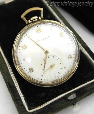 Vintage 1930's Art Deco era WITTNAUER Swiss 15 jewel Gold plated Pocket WATCH