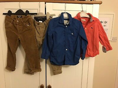 Boys 2-3 Years Bundle Next / h&M Shirts Trousers Jeans Chinos Blue Red Cords
