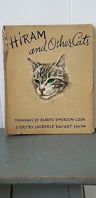 Vintage cat book Hiram And Other Cats Vtg Book 1941 cat lover crazy cat lady