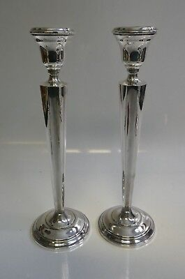 Vintage Hamilton Weighted tall Sterling Pair Of Candle Holders-Model Number 70