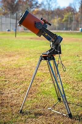 Vintage Celestron 8 telescope with case, tripod, wedge, polar scope & eyepieces