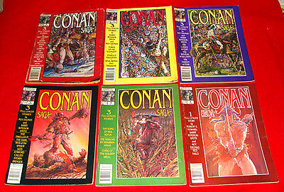 10 Vintage Marvel Conan Saga Comic Book Magazines 1987-91 w/ #1-3 &more Stan Lee