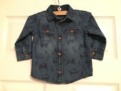 TU Denim Fox Design Shirt Size 6-9 Months