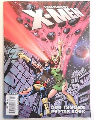 Uncanny X-Men 500 Issues Poster Book (Magazine, 2008) Marvel, 1St Printing!!!