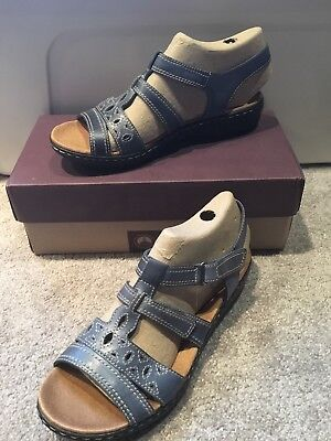 95299d0ebba6 CLARKS LEATHER MULTI-STRAP Textured Sandals Jaelyn Fog White 7M NEW ...