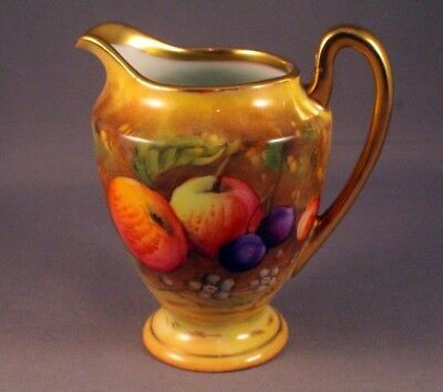 Beautiful Hand Painted And Signed Fruit Patterned Cream Jug  - Perfect