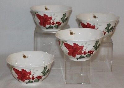Lenox Butterfly Meadow Holiday Monarch Amaryllis Rice Bowl New