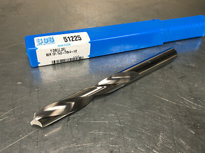 """NEW SGS USA #3 X 2/"""" OAL X 60 DEGREE SOLID CARBIDE DRILL /& COUNTERSINK #57009"""