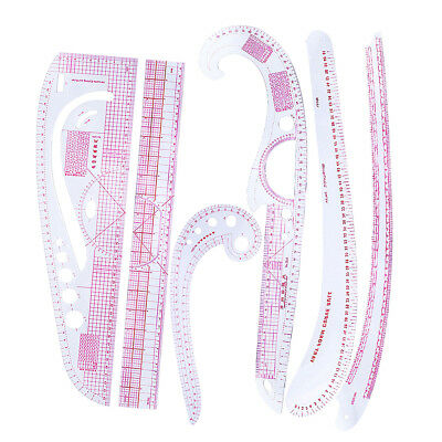 6pcs/Set French Curve Vary Form Fashion Ruler for Sewing Dressmaking Tool